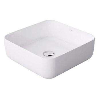 Umywalka nablatowa biała Alizma 39x39x14