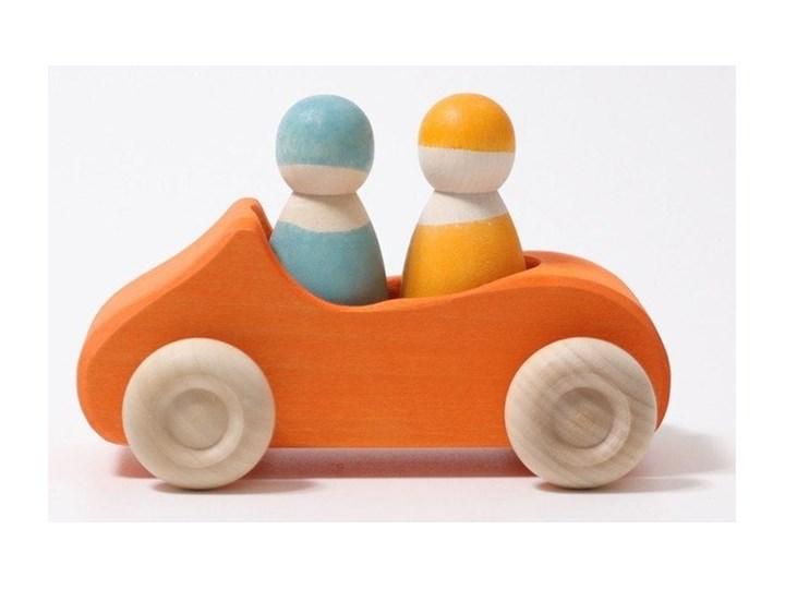 Drewniane autko Duży kabriolet, Grimm's, pomarańczowe