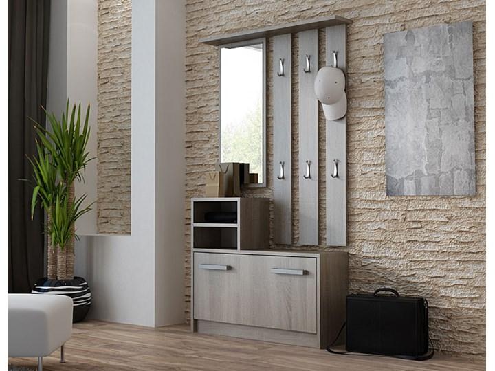 Garderoba z lustrem i szafką na buty Salma - dąb trufel Kategoria Zestawy mebli do sypialni