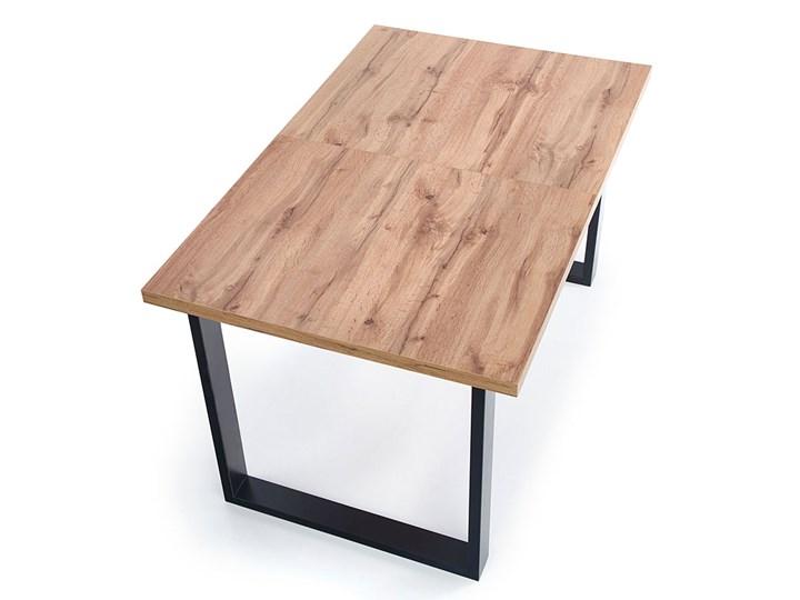 Drewniany rozkładany stół do salonu Lucy 2X Wysokość 74 cm Drewno Długość 90 cm  Szerokość 90 cm Rozkładanie