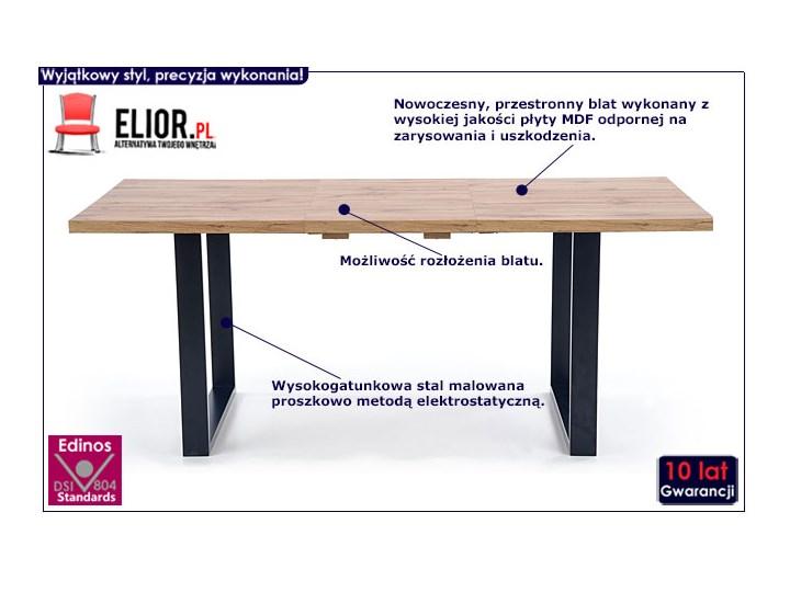 Drewniany rozkładany stół do salonu Lucy 2X Wysokość 74 cm Długość 90 cm  Drewno Szerokość 90 cm Styl Minimalistyczny