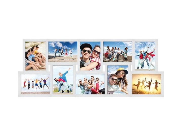 Galeria na zdjęcia 10 x 15 cm biała Tworzywo sztuczne Rozmiar zdjęcia 10x15 cm Ramka na zdjęcia Pomieszczenie Salon