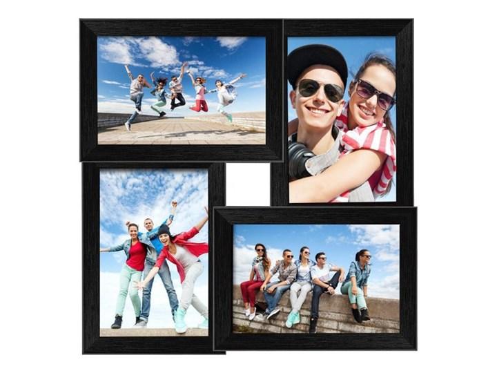 Galeria na zdjęcia 10 x 15 cm czarna Pomieszczenie Sypialnia Ramka na zdjęcia Tworzywo sztuczne Rozmiar zdjęcia 10x15 cm