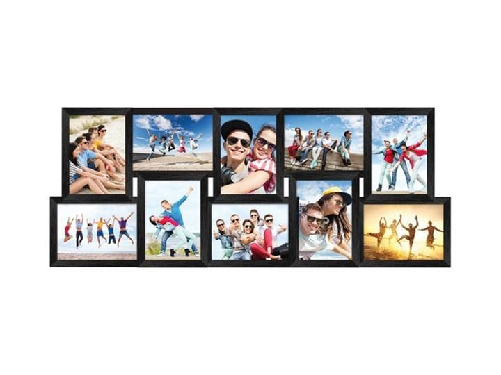 Galeria na zdjęcia 10 x 15 cm czarna Ramka na zdjęcia Tworzywo sztuczne Rozmiar zdjęcia 28,5x73 cm