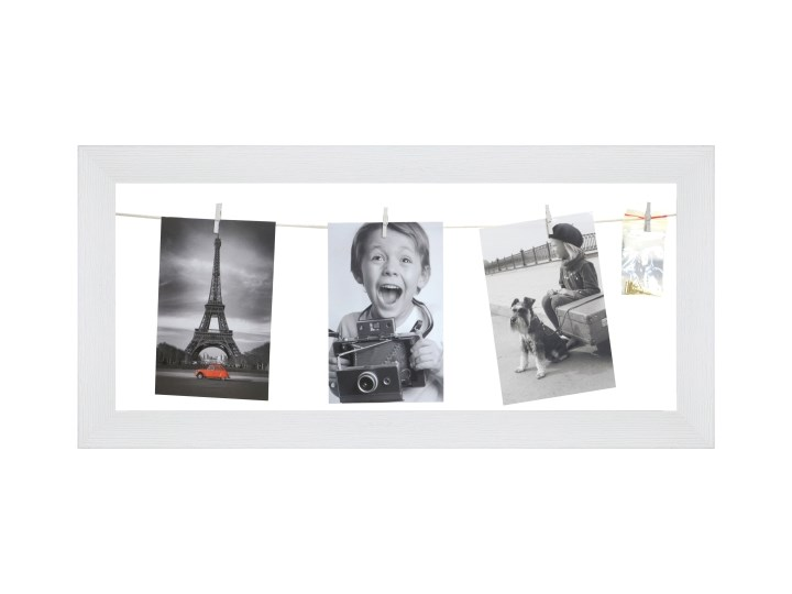 Galeria na zdjęcia 20 x 50 cm sznurkowa biała Ramka na zdjęcia Rozmiar zdjęcia 20x50 cm Tworzywo sztuczne Kolor Biały