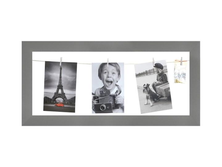 Galeria na zdjęcia 20 x 50 cm sznurkowa szara Ramka na zdjęcia Tworzywo sztuczne Pomieszczenie Sypialnia Rozmiar zdjęcia 10x15 cm