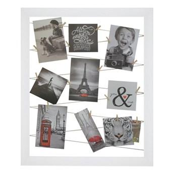 Galeria na zdjęcia 40 x 50 cm sznurkowa biała