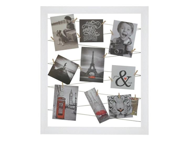 Galeria na zdjęcia 40 x 50 cm sznurkowa biała Tworzywo sztuczne Ramka na zdjęcia Kolor Biały Pomieszczenie Sypialnia