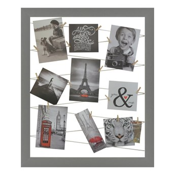 Galeria na zdjęcia 40 x 50 cm sznurkowa szara