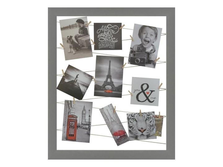 Galeria na zdjęcia 40 x 50 cm sznurkowa szara Pomieszczenie Salon Tworzywo sztuczne Ramka na zdjęcia Pomieszczenie Sypialnia