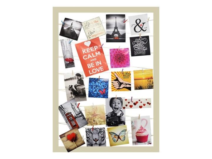 Galeria na zdjęcia 55 x 75 cm sznurkowa beżowa Tworzywo sztuczne Ramka na zdjęcia Pomieszczenie Sypialnia