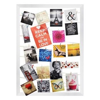 Galeria na zdjęcia 55 x 75 cm sznurkowa biała