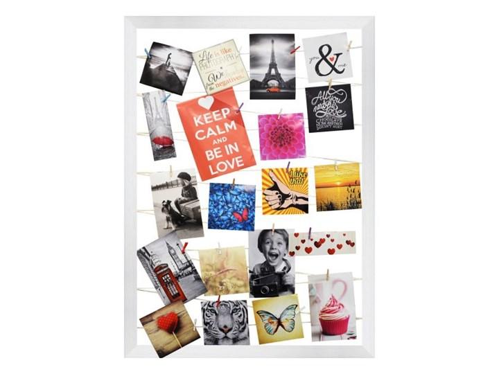 Galeria na zdjęcia 55 x 75 cm sznurkowa biała Tworzywo sztuczne Ramka na zdjęcia Kategoria Ramy i ramki na zdjęcia