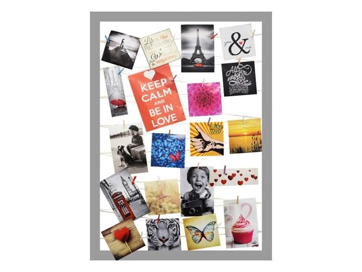 Galeria na zdjęcia 55 x 75 cm sznurkowa szara Tworzywo sztuczne Ramka na zdjęcia Kategoria Ramy i ramki na zdjęcia Rozmiar zdjęcia 10x15 cm
