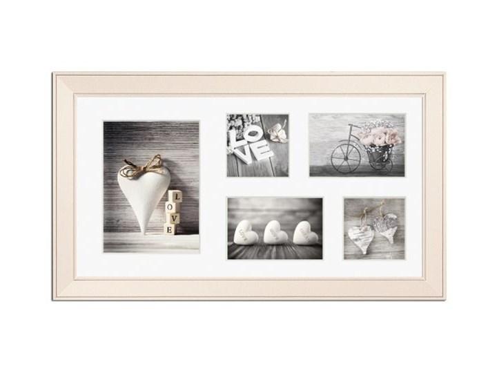 Galeria na zdjęcia Malmo 27 x 51 cm kremowa Multiramka Drewno Pomieszczenie Sypialnia Pomieszczenie Salon