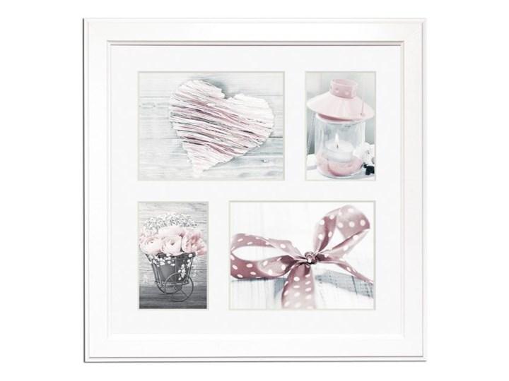 Galeria na zdjęcia Malmo 39 x 39 cm biała Multiramka Drewno Kolor Biały Pomieszczenie Salon