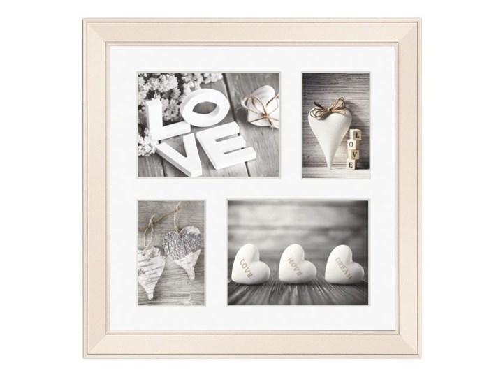 Galeria na zdjęcia Malmo 39 x 39 cm kremowa Drewno Multiramka Kategoria Ramy i ramki na zdjęcia