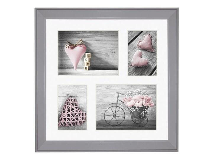 Galeria na zdjęcia Malmo 39 x 39 cm szara Multiramka Kategoria Ramy i ramki na zdjęcia Drewno Pomieszczenie Salon