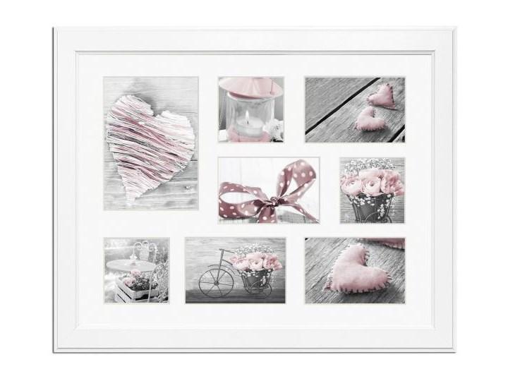 Galeria na zdjęcia Malmo 41 x 51 cm biała Ramka na zdjęcia Drewno Pomieszczenie Salon