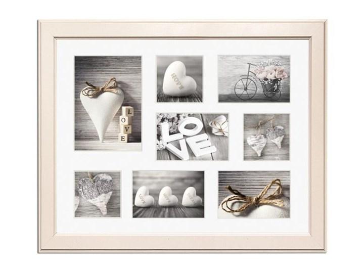 Galeria na zdjęcia Malmo 41 x 51 cm kremowa Drewno Ramka na zdjęcia Pomieszczenie Sypialnia