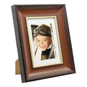 Ramka na zdjęcia 10 x 15 cm brązowo-złota