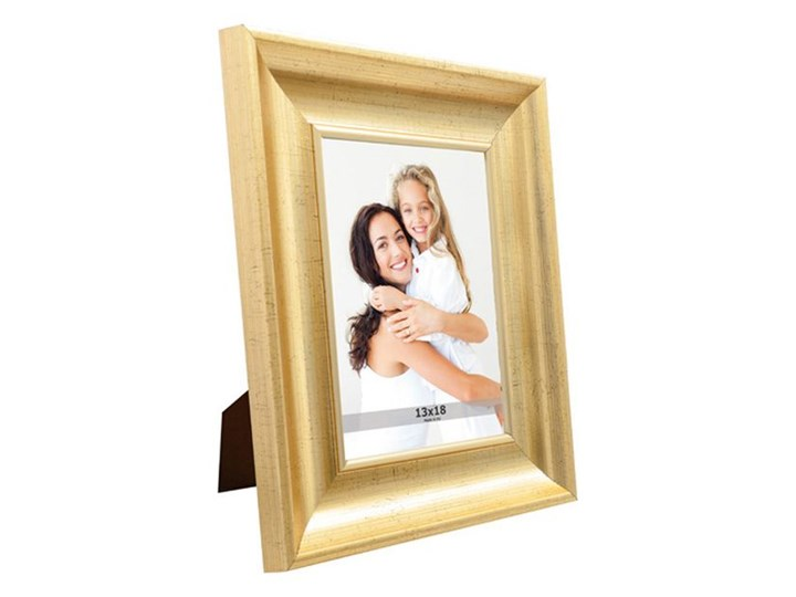 Ramka na zdjęcia 13 x 18 cm stare złoto Tworzywo sztuczne Rozmiar zdjęcia 23x28 cm Pomieszczenie Sypialnia