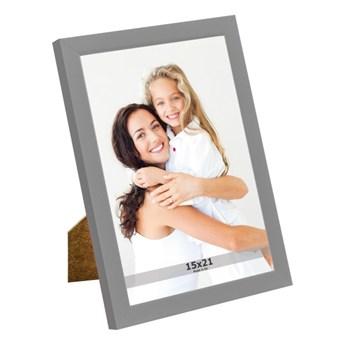 Ramka na zdjęcia 15 x 21 cm szara