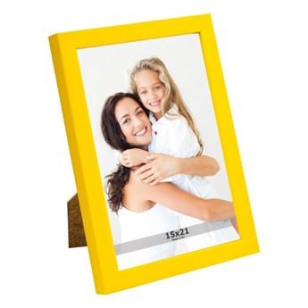 Ramka na zdjęcia 15 x 21 cm żółta