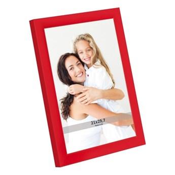 Ramka na zdjęcia 21 x 29,7 cm czerwona