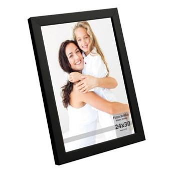 Ramka na zdjęcia 24 x 30 cm czarny lakier