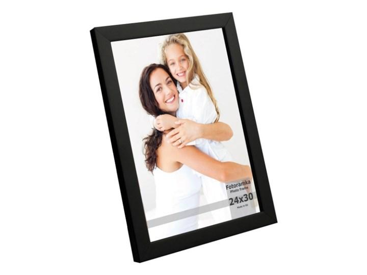 Ramka na zdjęcia 24 x 30 cm czarny lakier Tworzywo sztuczne Pomieszczenie Sypialnia