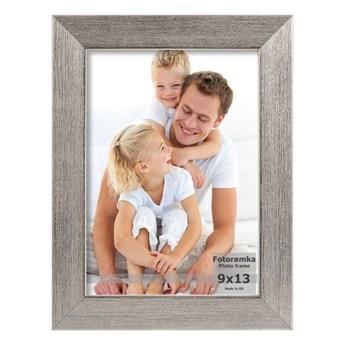 Ramka na zdjęcia 30 x 40 cm srebrna