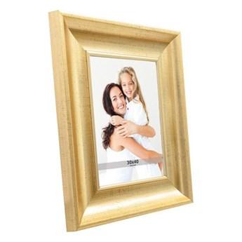 Ramka na zdjęcia 30 x 40 cm stare złoto