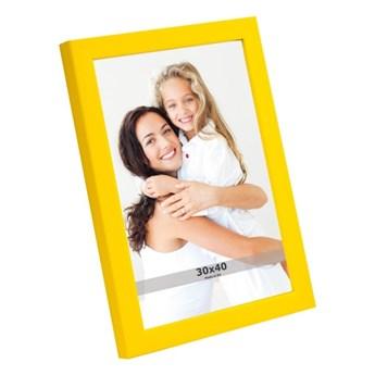 Ramka na zdjęcia 30 x 40 cm żółta