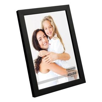Ramka na zdjęcia 40 x 50 cm czarny lakier