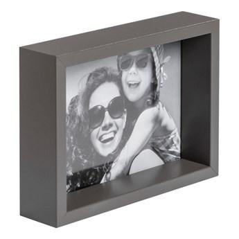 Ramka na zdjęcia Box 13 x 18 cm szara