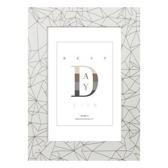 Ramka na zdjęcia Diamonds 13 x 18 cm biała
