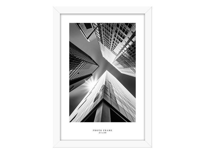 Ramka na zdjęcia Floryda 21 x 30 cm biała Drewno Rozmiar zdjęcia 23x32 cm Kolor Biały