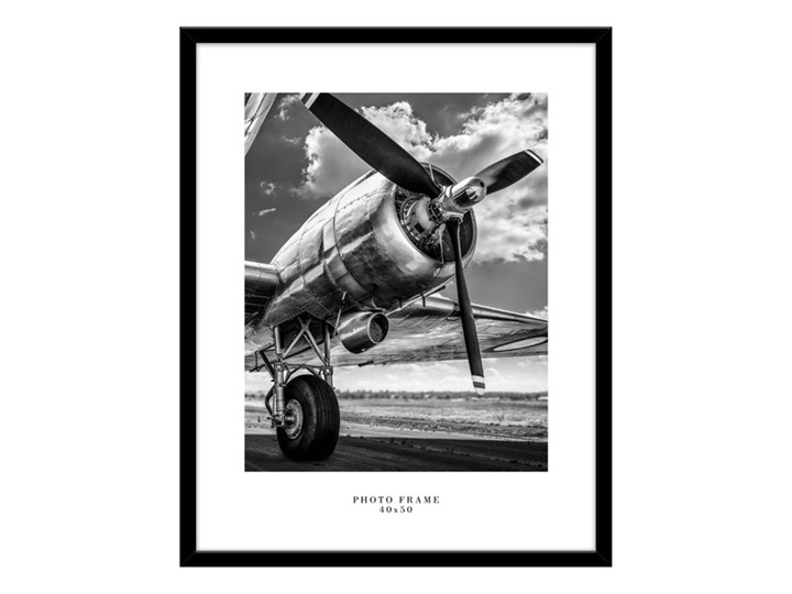 Ramka na zdjęcia Floryda 40 x 50 cm czarna Drewno Kategoria Ramy i ramki na zdjęcia