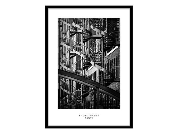 Ramka na zdjęcia Floryda 50 x 70 cm czarna Kolor Czarny Drewno Rozmiar zdjęcia 52x72 cm