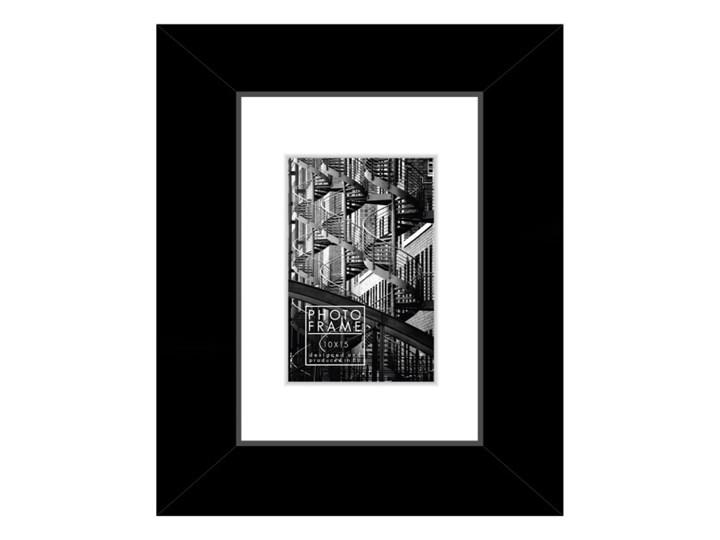 Ramka na zdjęcia Lahti 10 x 15 cm czarna Drewno Kolor Czarny