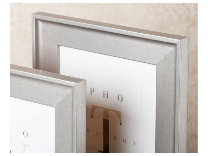 Ramka na zdjęcia London 13 x 18 cm srebrna Kolor Srebrny Drewno Kolor Szary