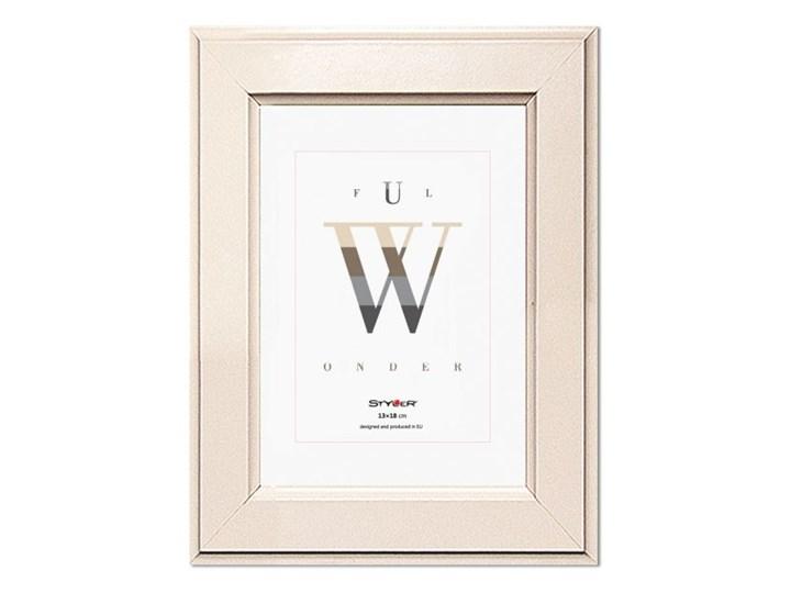 Ramka na zdjęcia Malmo 13 x 18 cm kremowa Drewno Pomieszczenie Sypialnia Kategoria Ramy i ramki na zdjęcia