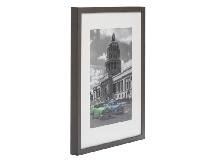 Ramka na zdjęcia Simple 30 x 40 cm szara Drewno Pomieszczenie Sypialnia