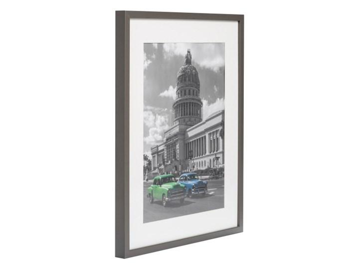 Ramka na zdjęcia Simple 40 x 50 cm szara Drewno Kolor Szary