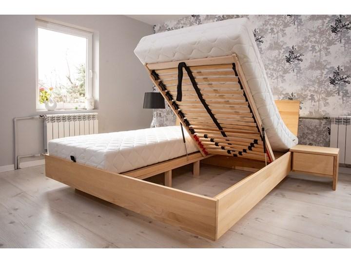 Ballega łóżko bukowe lewitujące 140x200 cm Pojemnik na pościel Z pojemnikiem Łóżko drewniane Kategoria Łóżka do sypialni