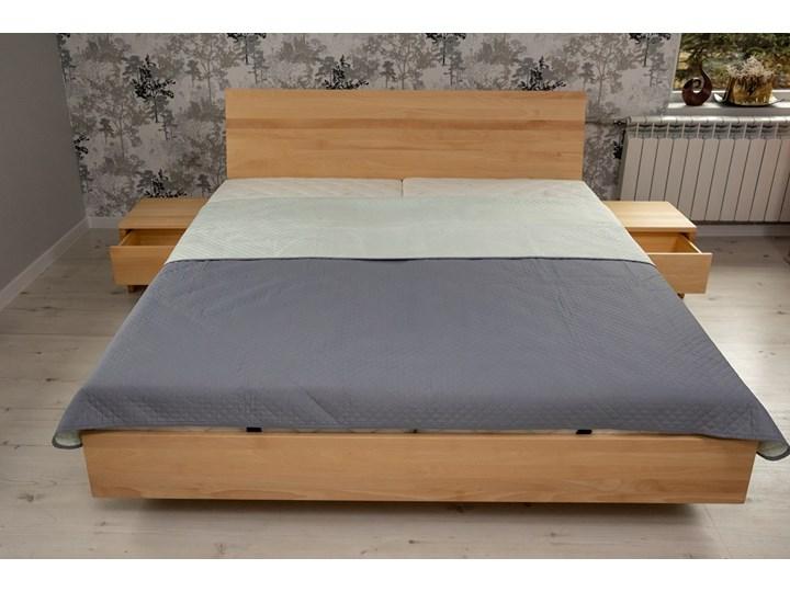 Ballega łóżko bukowe lewitujące 160x200 cm w kolorze jasny orzech Łóżko drewniane Pojemnik na pościel Z pojemnikiem Kategoria Łóżka do sypialni