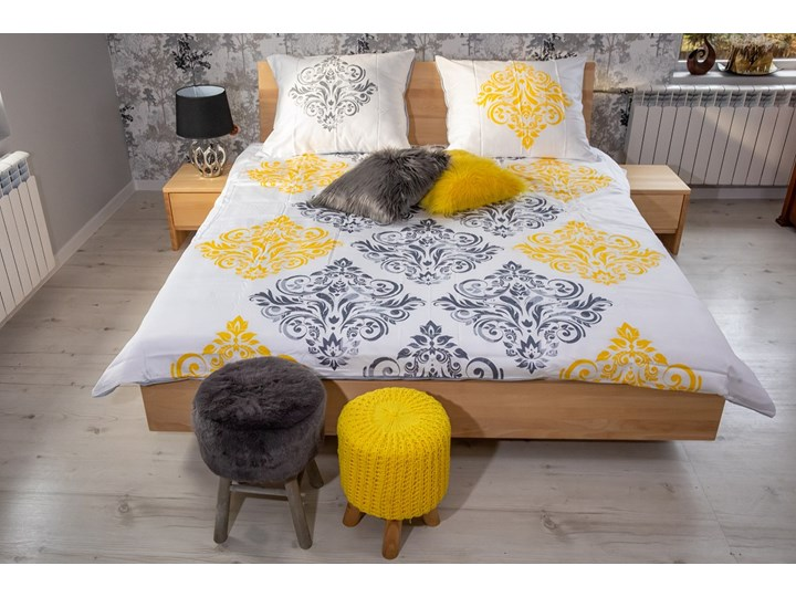 Ballega łóżko bukowe lewitujące 160x200 cm w kolorze jasny orzech Pojemnik na pościel Z pojemnikiem Łóżko drewniane Kategoria Łóżka do sypialni