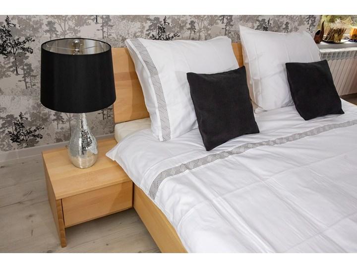 Zestaw: Ballega łóżko bukowe lewitujące 160x200 cm w kolorze jasny orzech plus dwie szafki Kolor Żółty Kategoria Zestawy mebli do sypialni