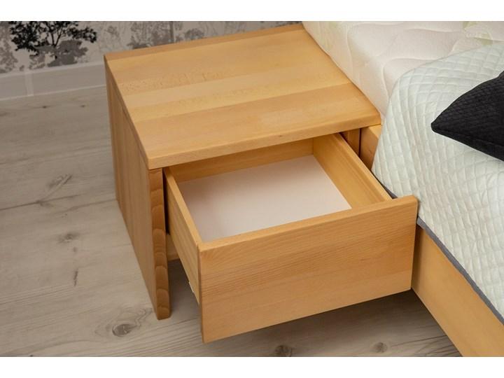 Zestaw: Ballega łóżko bukowe lewitujące 160x200 cm w kolorze jasny orzech plus dwie szafki Kategoria Zestawy mebli do sypialni